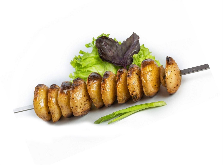 Картофель на мангале в Иркутске