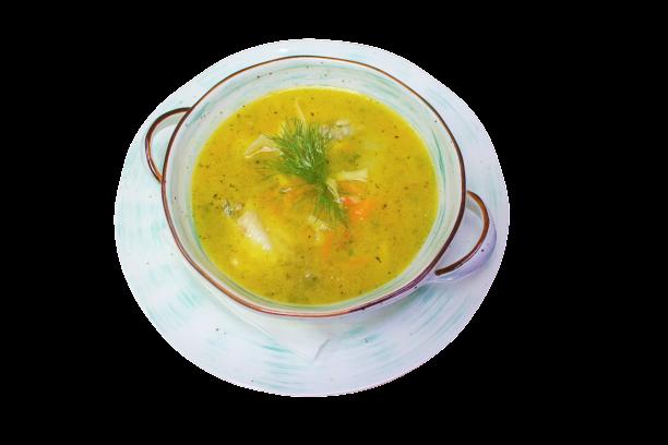 Суп куриный с домашней лапшой в Иркутске